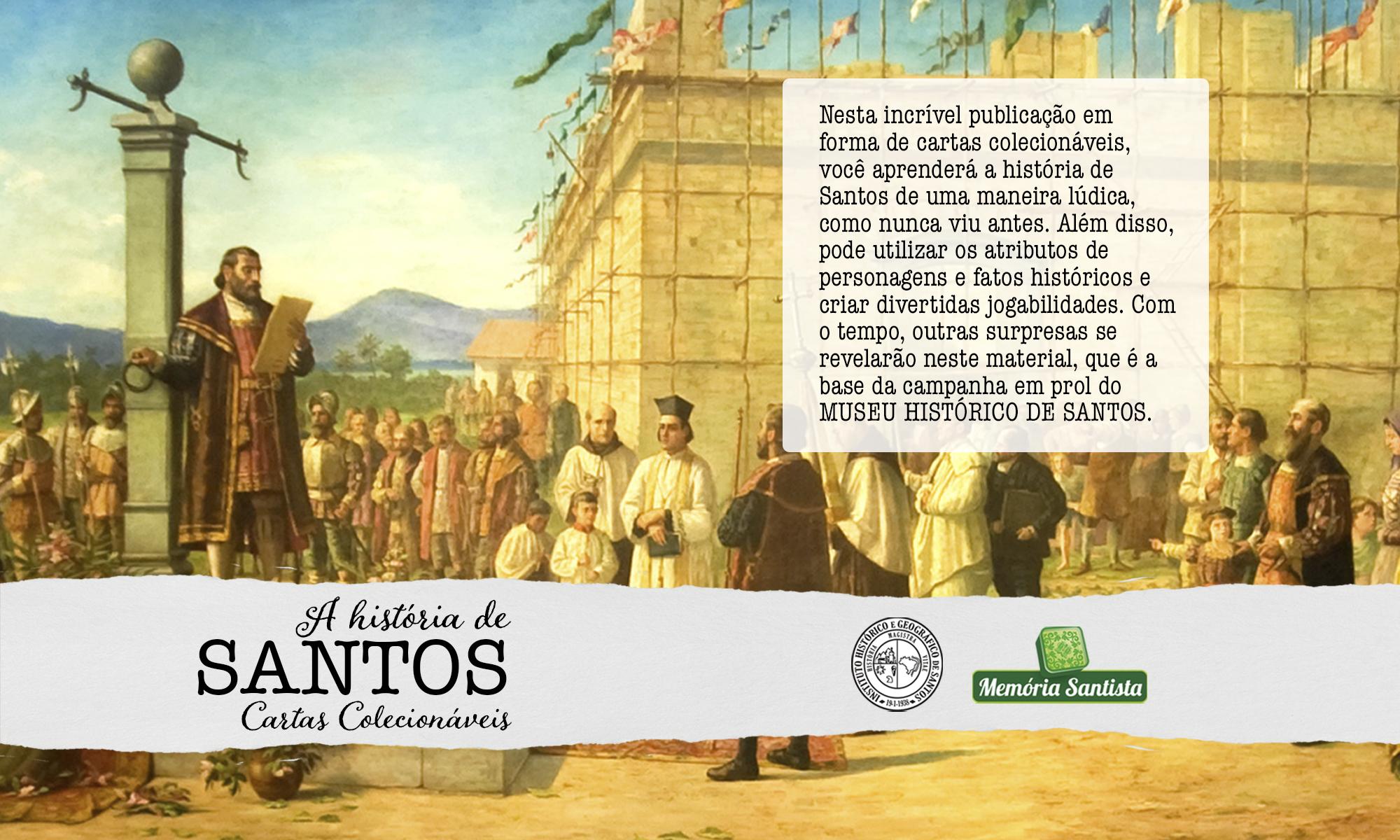 A História de Santos Cartas Colecionáveis