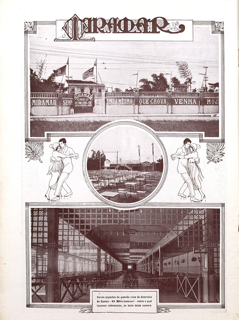 Artigo sobre o Recreio Miramar publicado na Revista Brazil Ilustrado, de maio de 1920.
