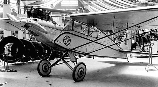 A aeronave italiana Breda-15, semelhante à que se acidentou no José Menino em 11 de janeiro de 1930.