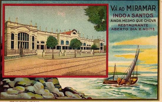 Interessante cartão de propaganda do Miramar, da coleção do cartofilista Laire Giraud.
