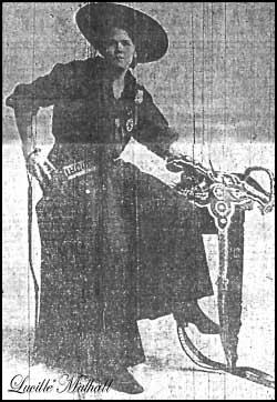 Lucille Mithall, a princesa de Oklahoma, hábil atiradora com espingarda de chumbo.