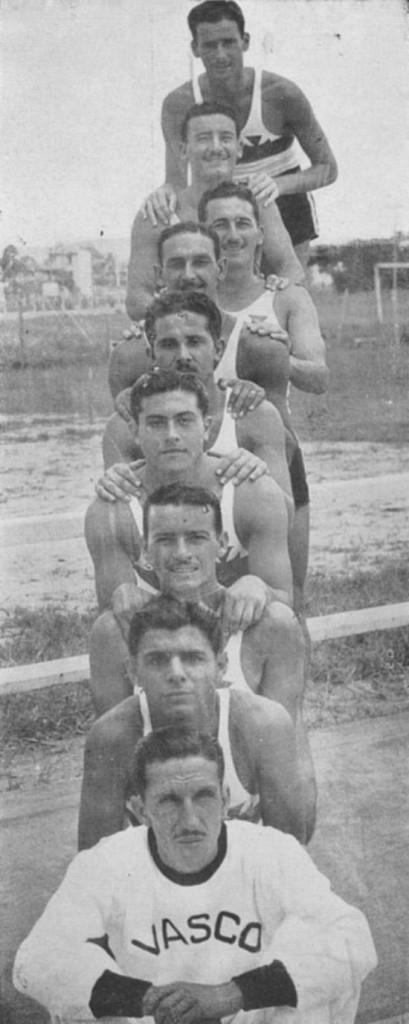 Equipe de basquete do Vasco da Gama em 1944, publicado na revista Flamma (fonte: site Novo Milenio)