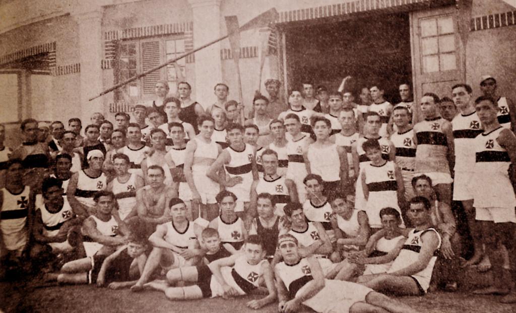 Atletas do Vasco da Gama, um clube que nasceu a partir do remo.