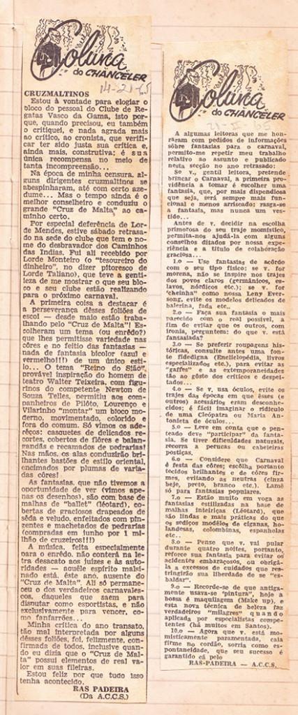 """Pedro Bandeira também publicou a """"Coluna do Chanceler"""", uma espécie de diário do cargo que passou a ocupar a partir de 1960."""