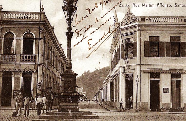 A mesma fonte, Martim Afonso, já na sua fase pré-extinção, entre o final do século XIX e início do XX, quando a região foi urbanizada.