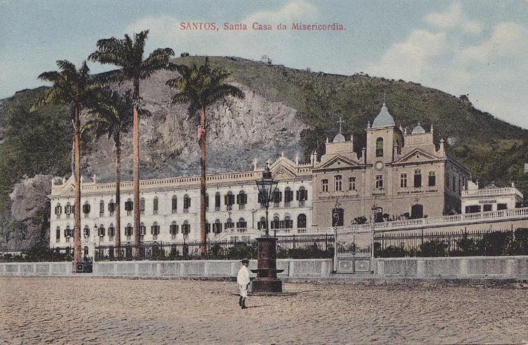 Chafariz que ficava entre a atual Cadeia Velha e a antiga Santa Casa de Santos, onde hoje está a saída do túnel, pelo lado da cidade.