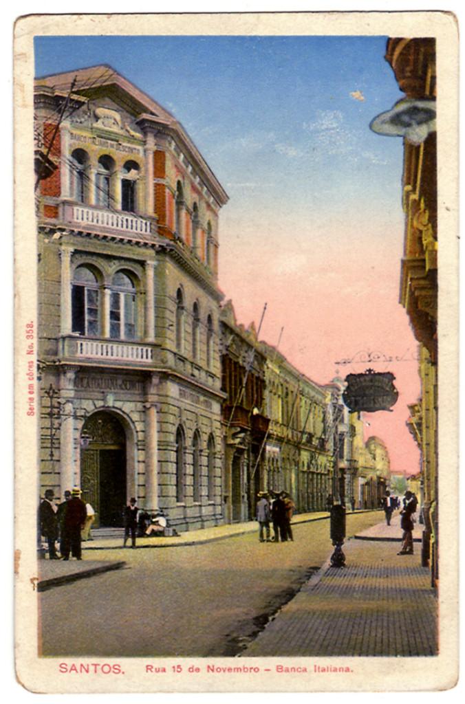 Imagem do Banco Italiano, prédio hoje ocupado pela Construtora Phoenix