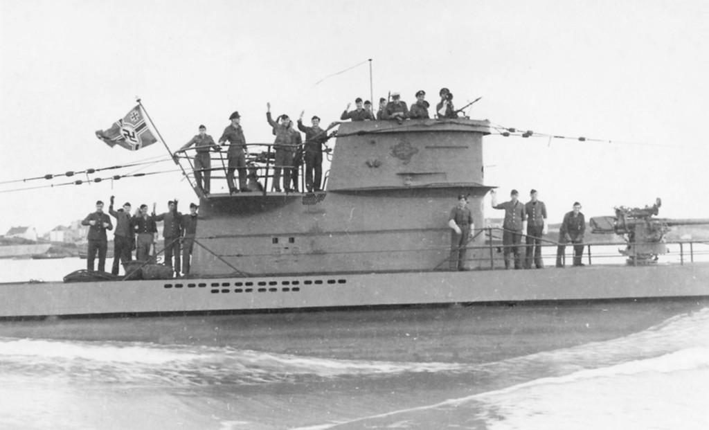 Submarino alemão, temido pelos santistas durante a guerra.