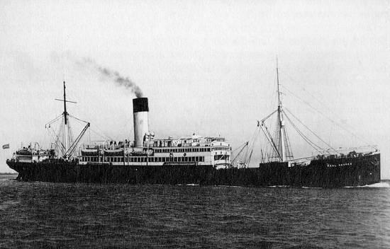 O Raul Soares, ainda em atividade na costa brasileira. Foto da década de 1920.