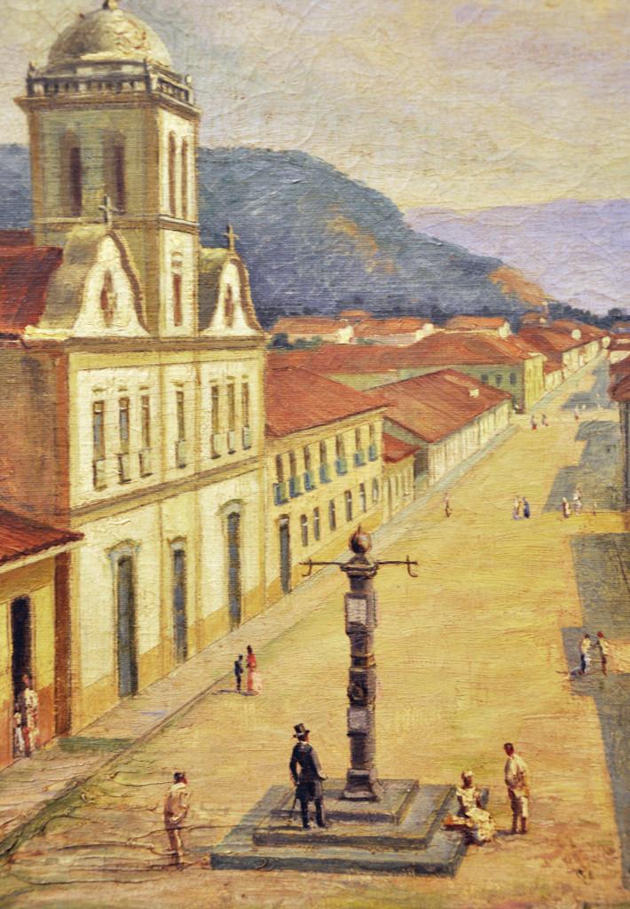 O segundo pelourinho de Santos, fincado nas proximidades do Convento do Carmo.