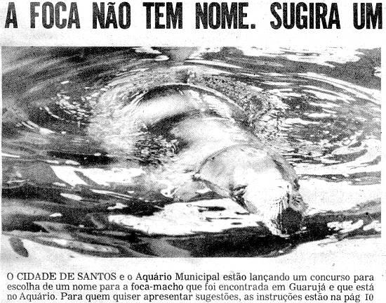 Recorte do jornal Cidade de Santos anunciando o concurso (site NovoMilenio)