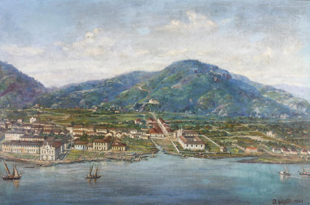 Santos em 1822, com seus 4.781 habitantes, no ano da Independência.
