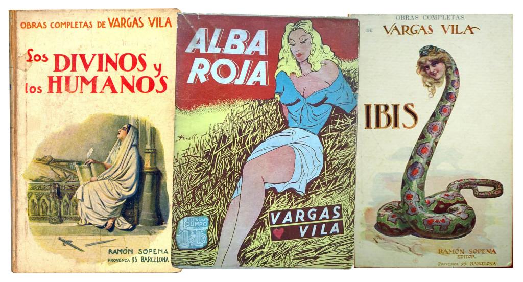 Alguns títulos de Vargas Vila