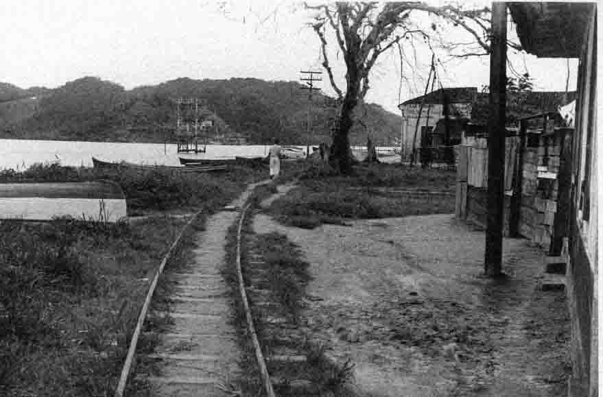 O velho trampolim de madeira do Saldanha, vista do trilho do bonde.