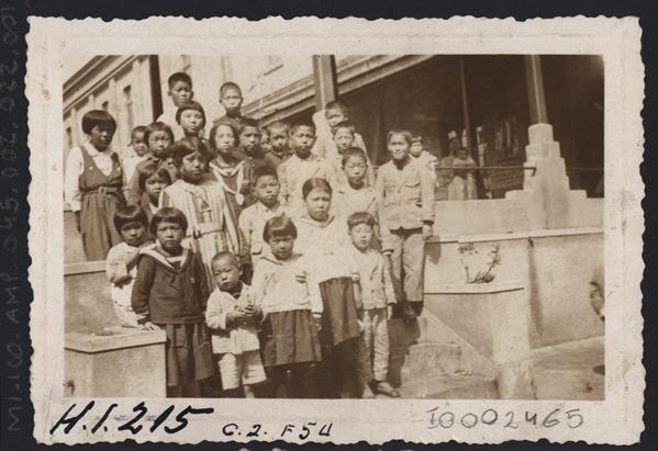 Crianças japonesas no La Plata Maru, com destino ao Brasil.