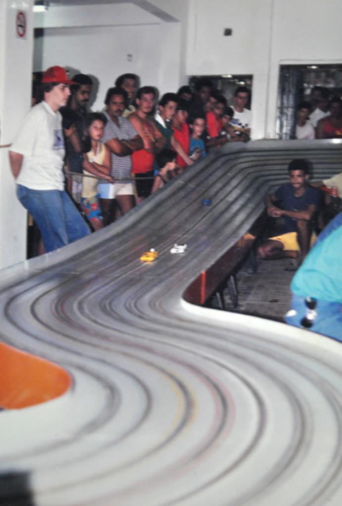 A famosa pista de autorama, uma das maiores atrações da cidade por cerca de 40 anos.
