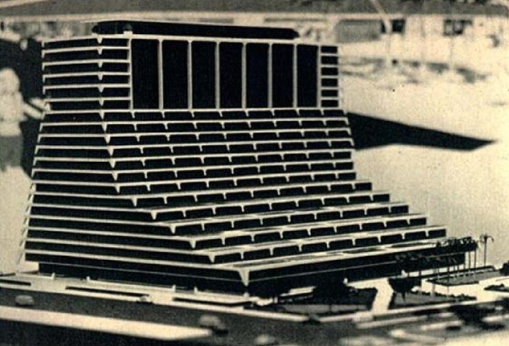 Maquete do projeto dos novos donos. Imagem publicada em reportagem da Revista Veja, em 27 de junho de 1973