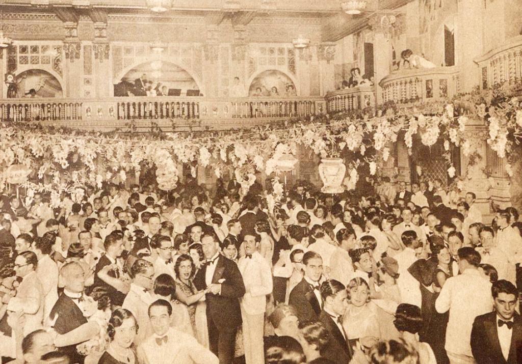 O suntuoso Salão Dourado, palco de festas glamorosas.