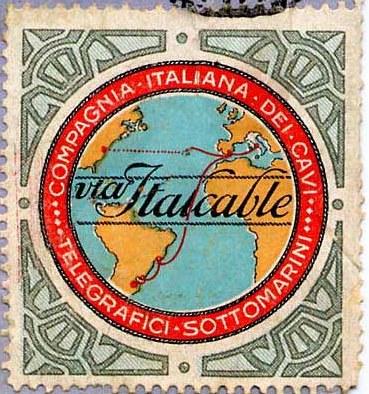 Selo comemorativo da Italcable