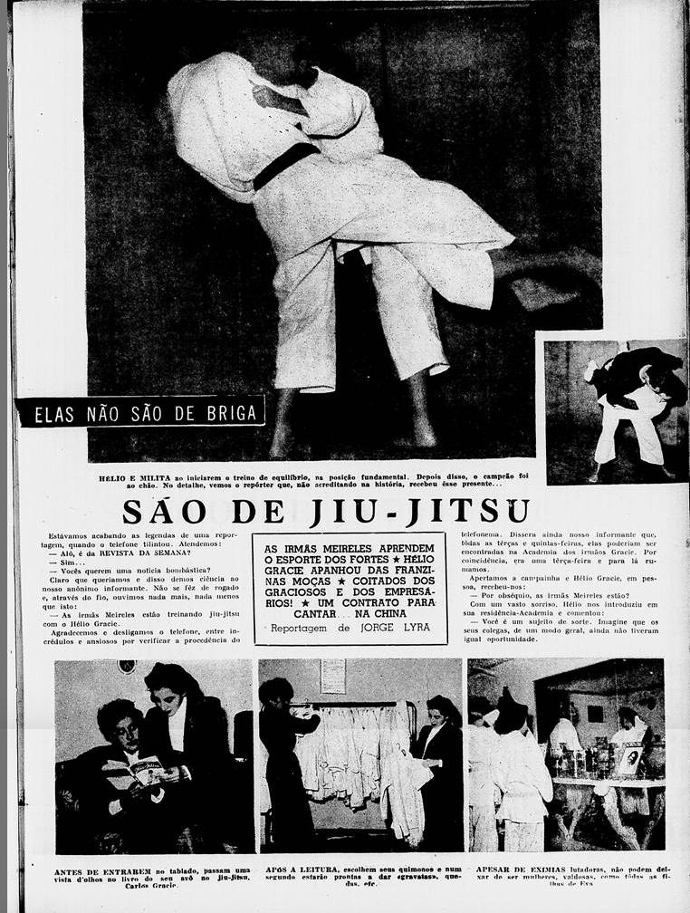 Milita e Rosária chegaram a praticar Jiu-Jitsu com o precursor do esporte no Brasil, Hélio Gracie.
