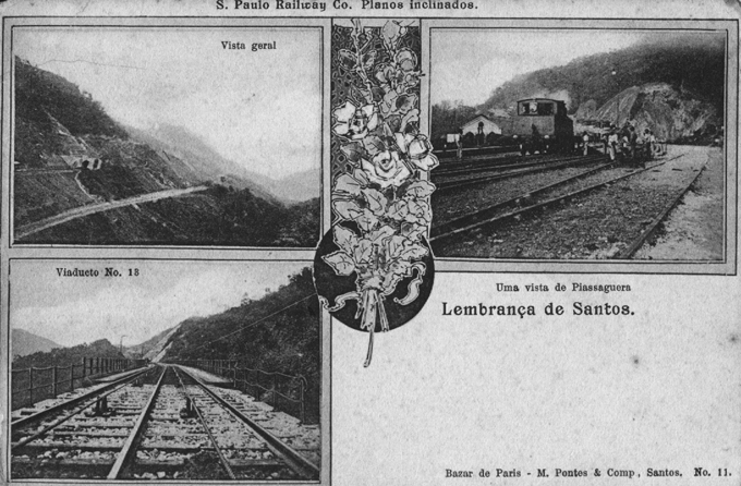 Cartões postais da época, mostrando a imponente obra paulista.