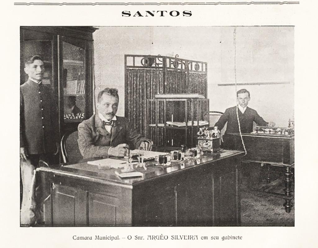 Imagem do funcionário Argeo Silveira, na Prefeitura de Santos.