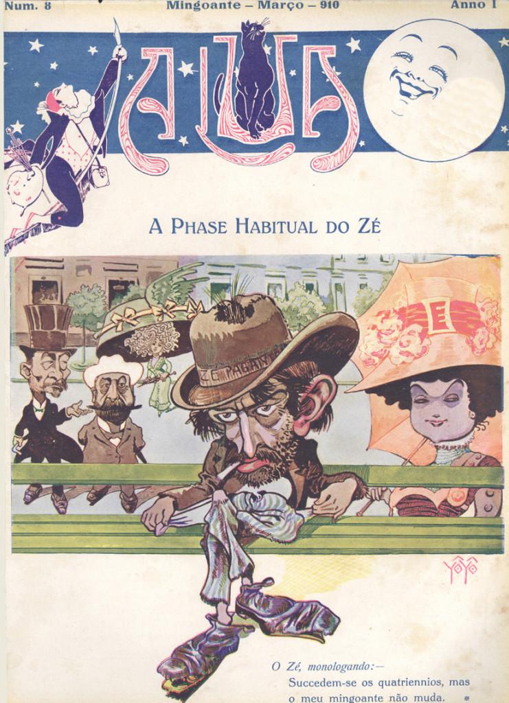 Capa da edição 8 da revista A Lua (março de 1910), que trouxe extensa reportagem fotográfica da cidade.