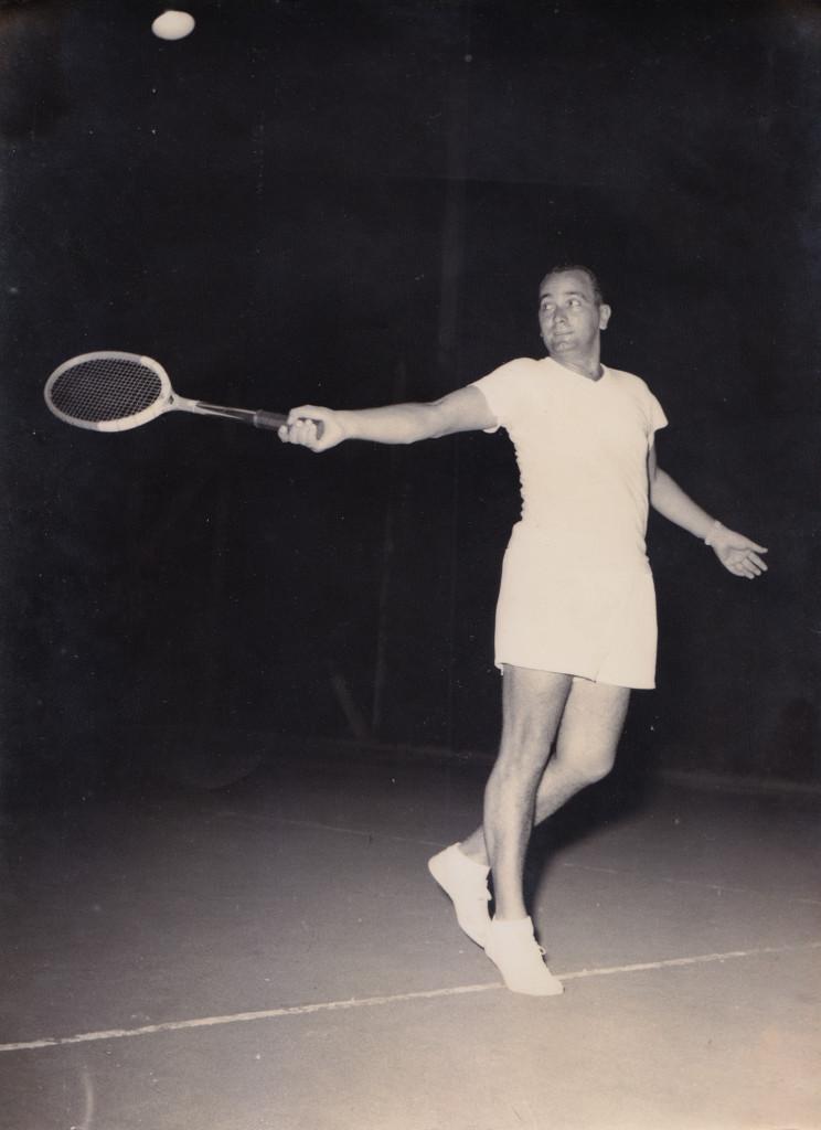 Maneco em disputa no Campeonato Aberto da Argentina, em 1940.