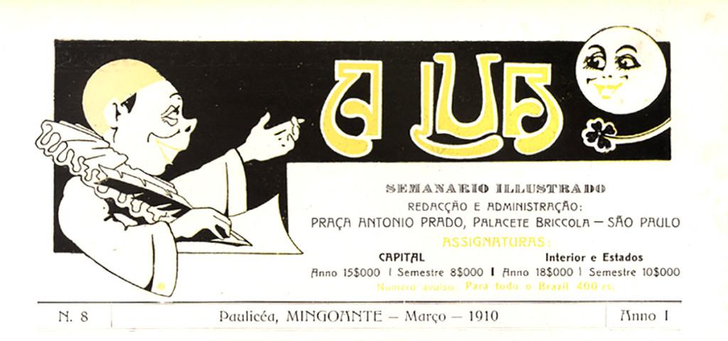 A figura teatral do Pierrot, espécie de símbolo da revista, representando sua irreverência.