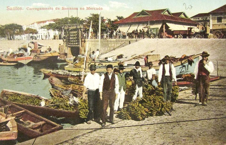 Na Bacia do Mercado, os produtores de banana vendiam seus produtos para o mercado interno.