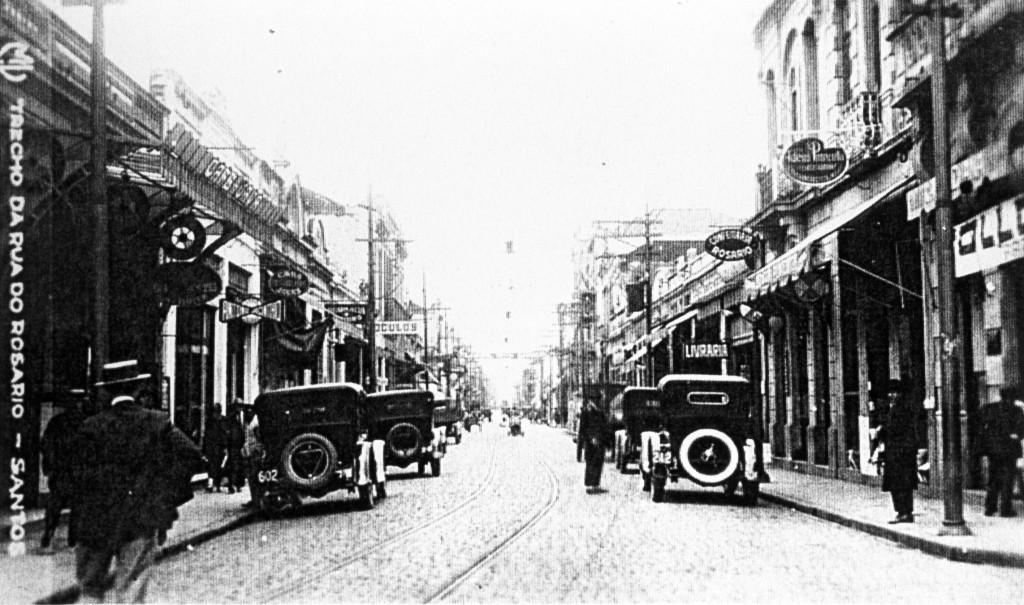 Rua do Rosário nos anos 1920.