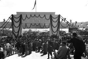 Cerimônia de inauguração no alto da Serra.