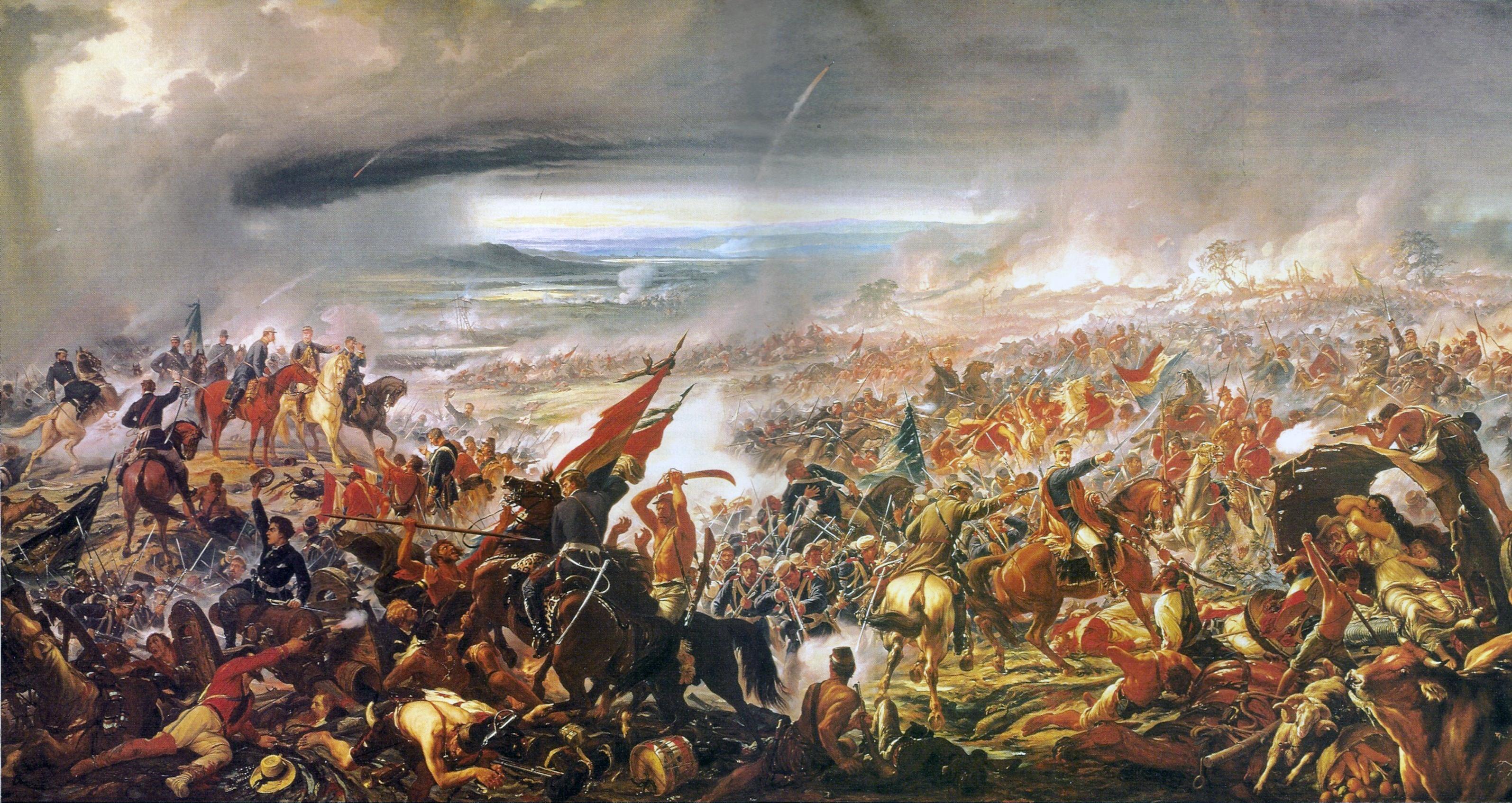 Batalha de Avaí, quadro de Pedro Américo no Museu Nacional de Belas Artes