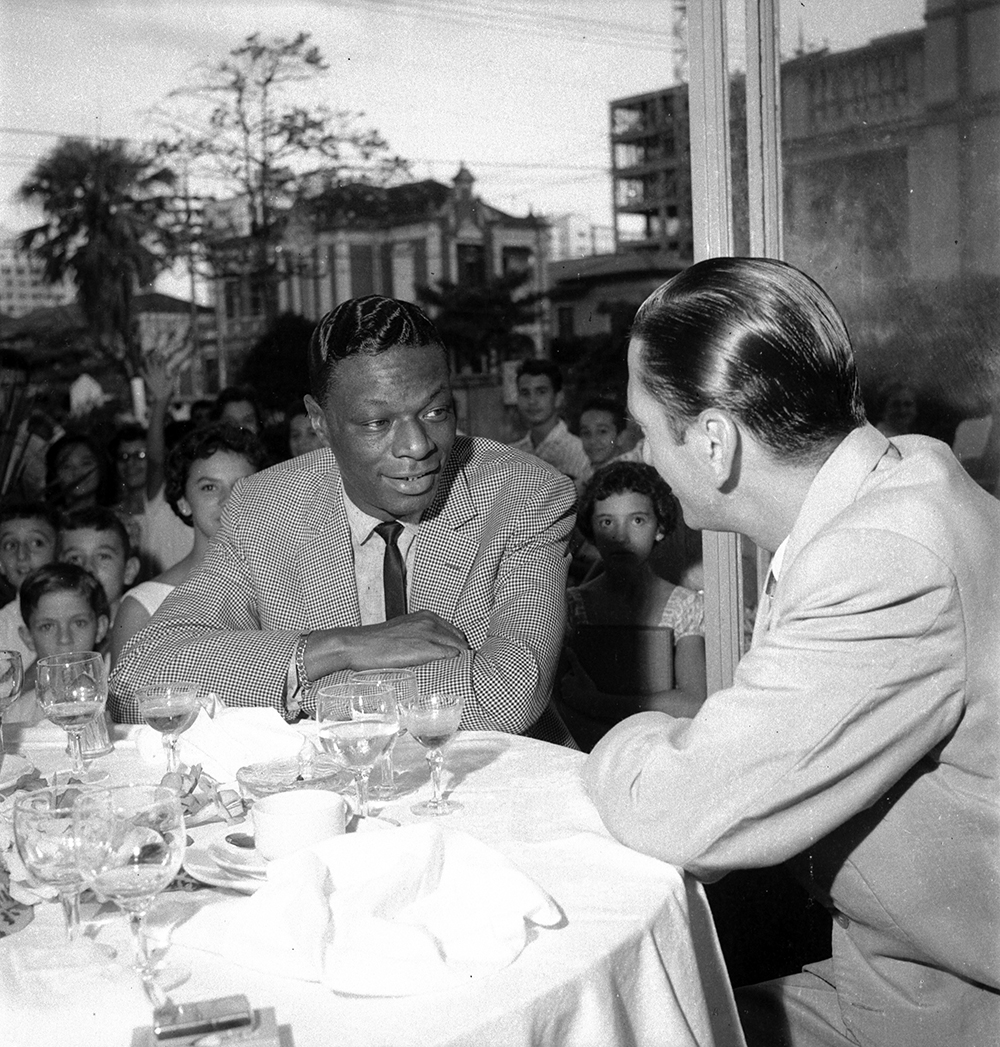 Nat King Cole na cantina Don Fabrizio, em abril de 1959.