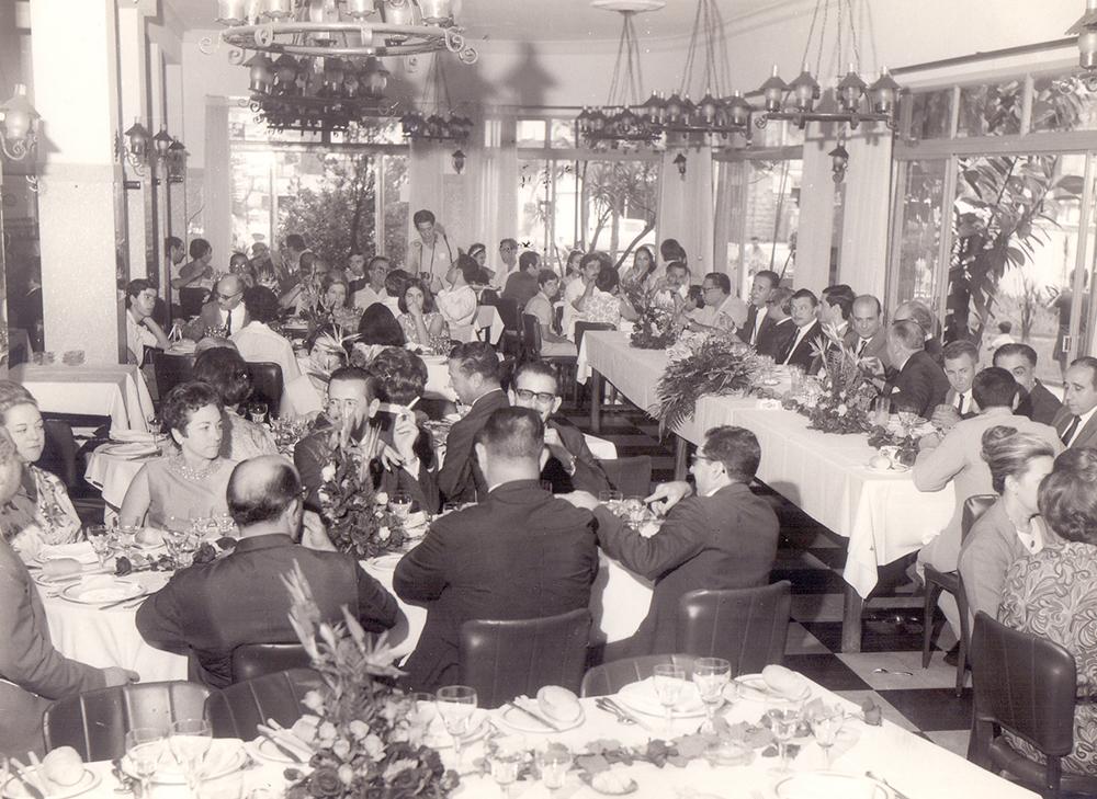 No Don Fabrizio ocorriam muitos almoços de entidades e empresas.