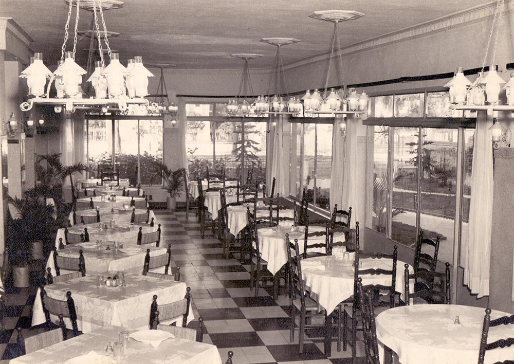 O restaurante primava pela qualidade do seu espaço.
