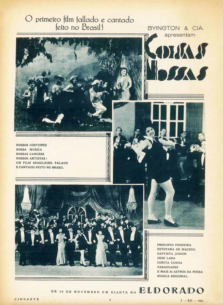 Anúncio do Fime nas principais revistas do país, em 1931.