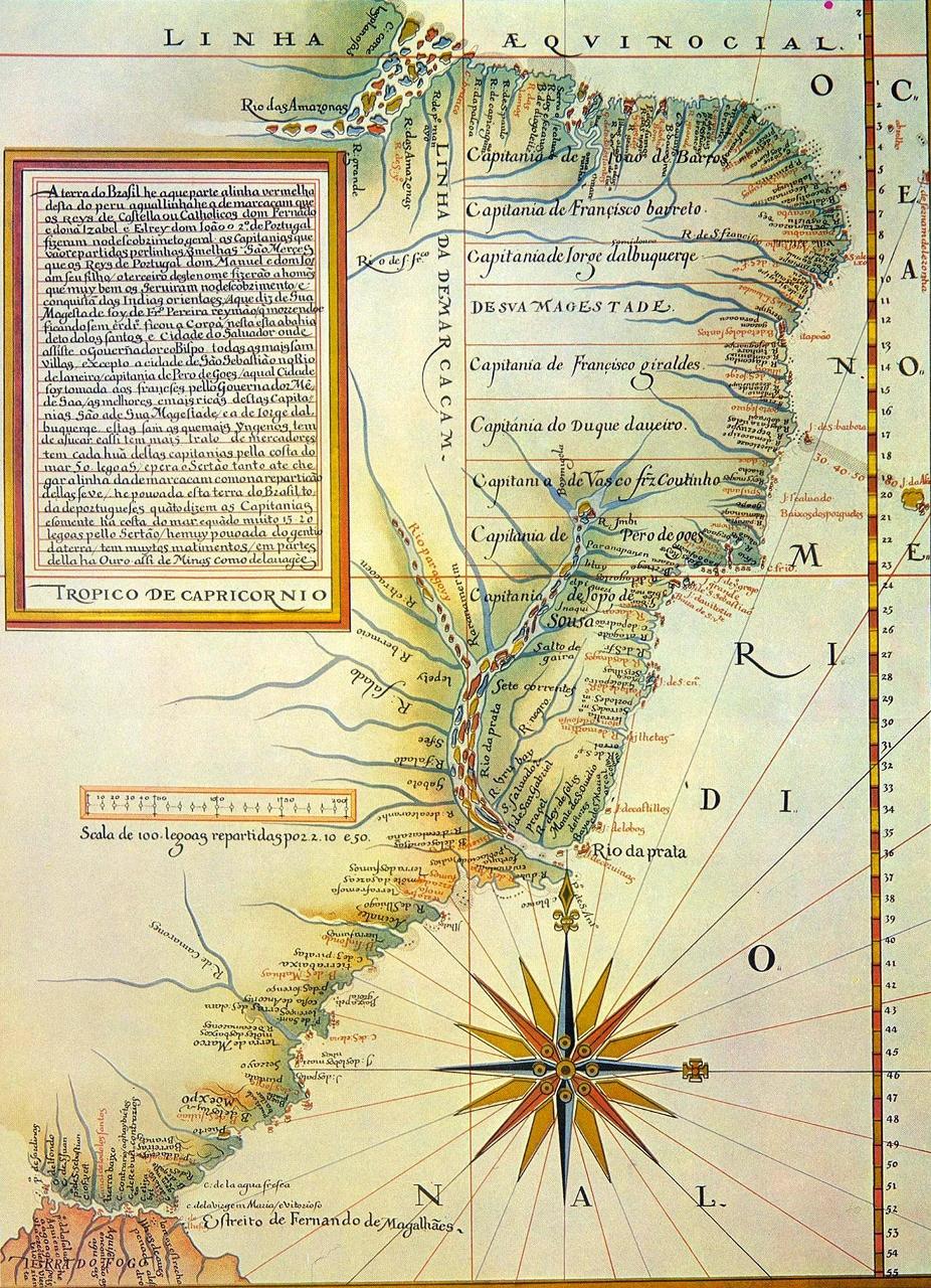 Mapa do Brasil de autoria de Luis Teixeira