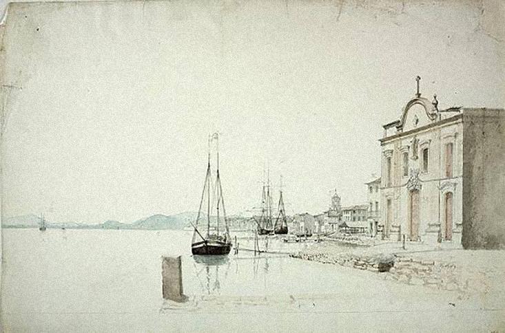 A Capela do Carvalho, em 1827, pelo artista William Burchell, contemporânea à incrível história de amor proibido.