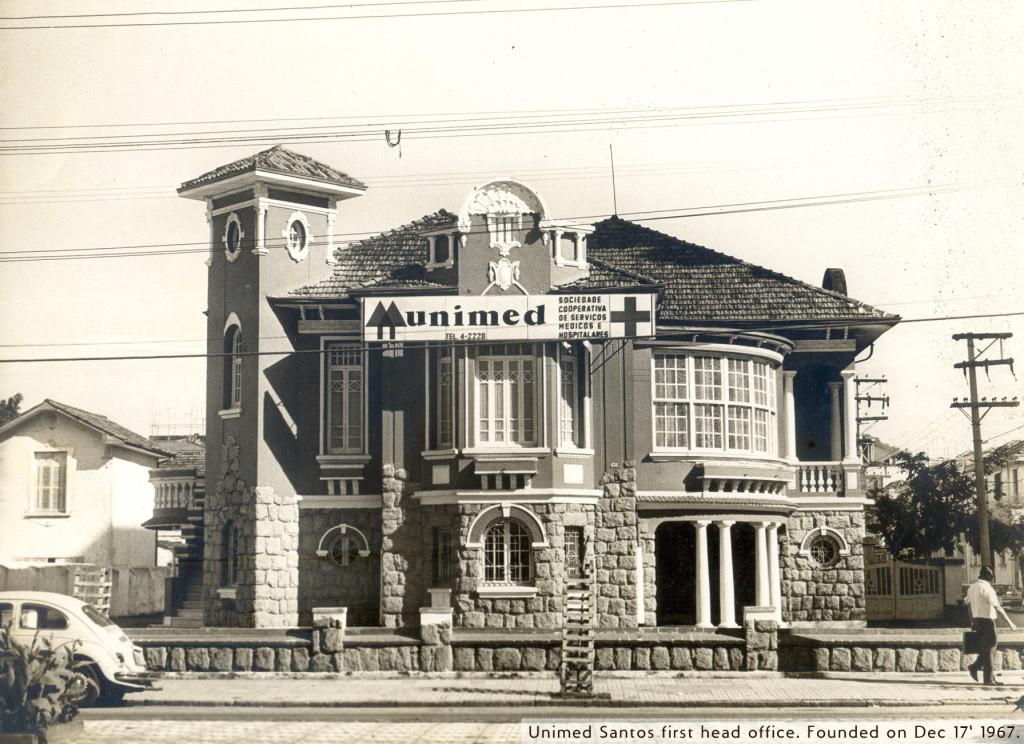 Primeira sede própria, até hoje sendo utilizada pela Unimed, na Avenida Ana Costa, 433.