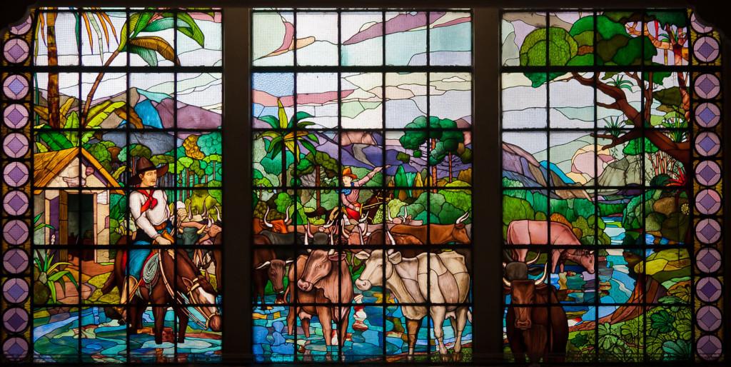 Vitral da Casa Conrado no famoso Mercadão de São Paulo