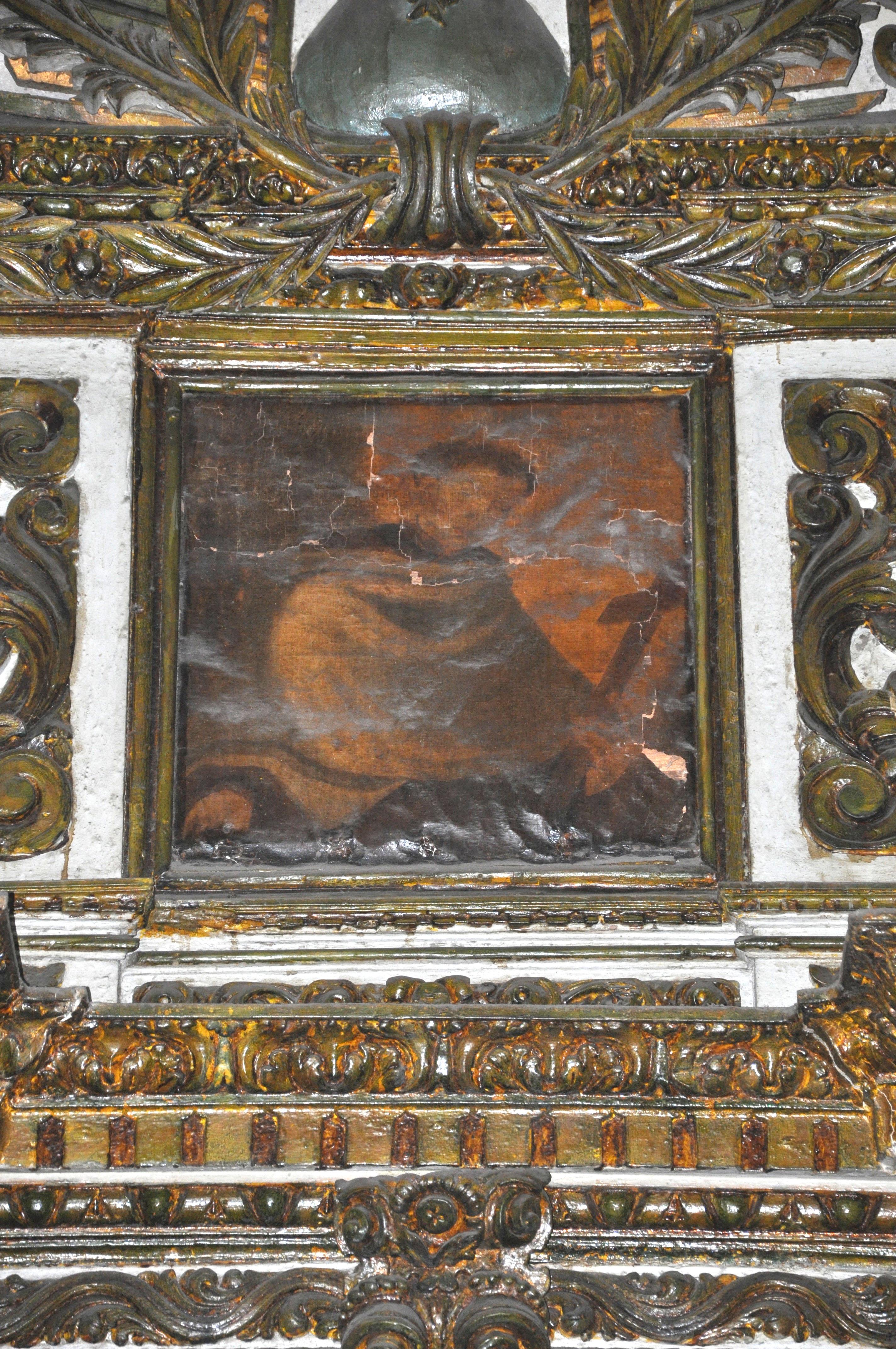 Uma das telas de Jesuíno, na Venerável Ordem Terceira do Carmo, em Santos.