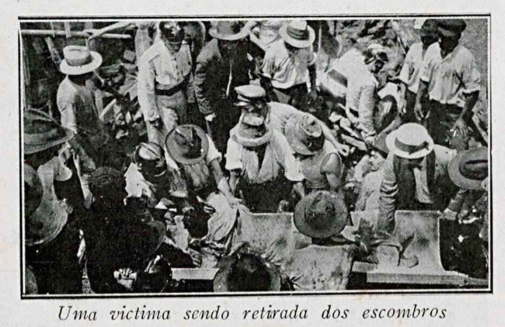 A imprensa nacional cobriu o drama santista, como a revista O Malho, do Rio de Janeiro.