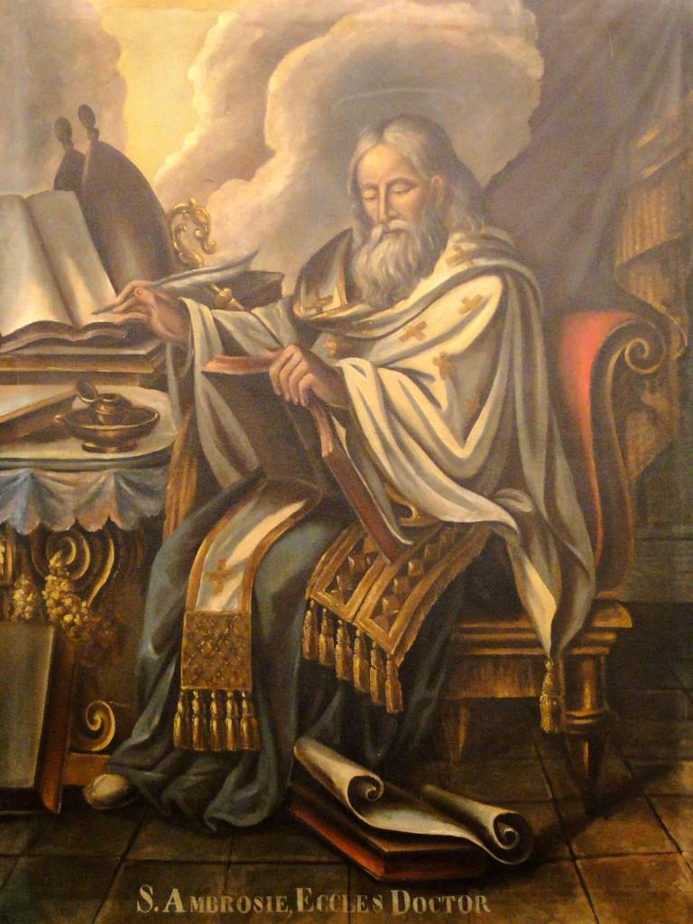 Imagem de Santo Agostinho, uma das telas atribuídas erroneamente a Jesuíno, segundo Mário de Andrade (acervo