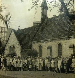 A Igreja Anglicana de Santos, nos anos 1940.
