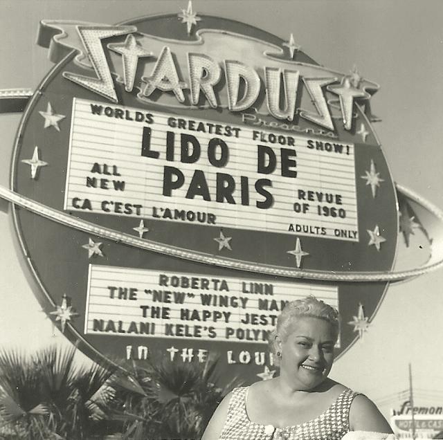 Leny Eversong em Las Vegas, onde fez estrondoso sucesso.