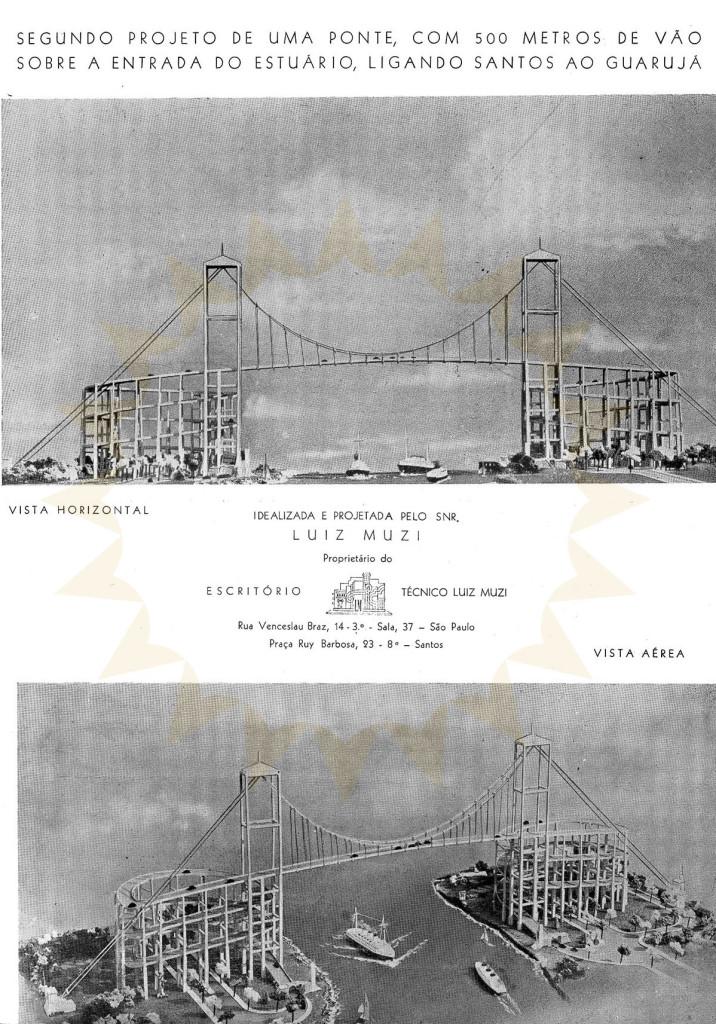 Segundo projeto da ponte de Luiz Muzi.