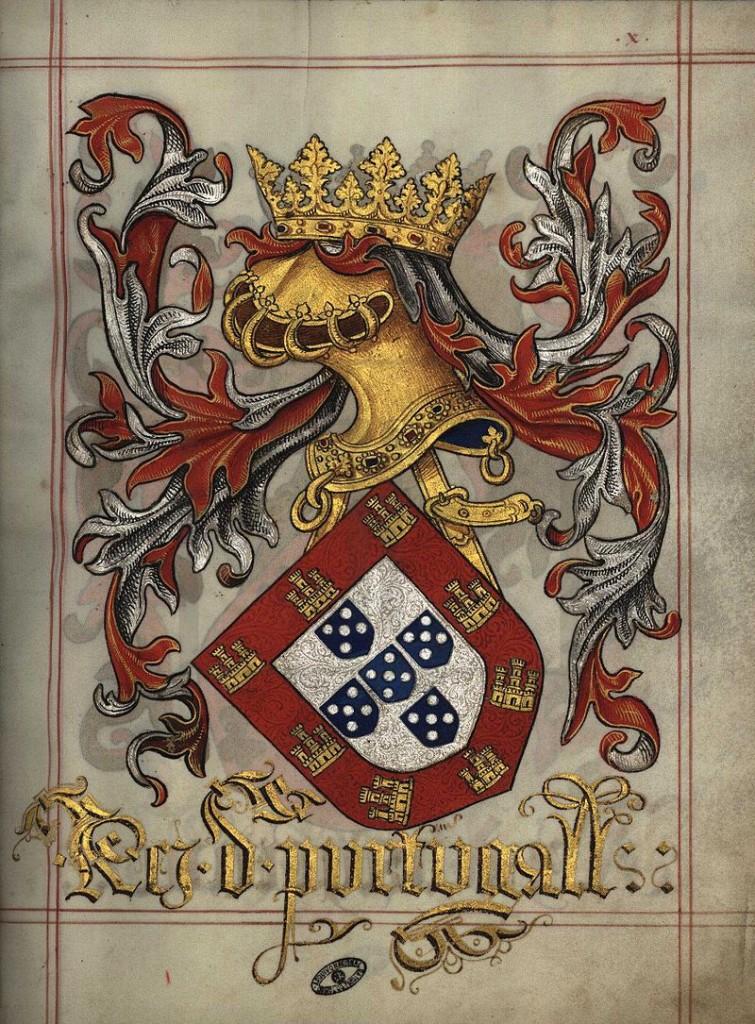 Brasão de Armas do Rei de Portugal na época do descobrimento do Brasil, D. Manoel I.