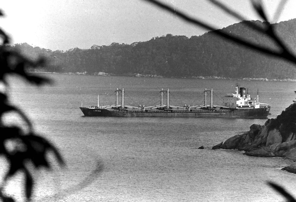 O Lorina encalhou a 150 metros da praia de Itaquitanduva, perto do Morro do Japuí.