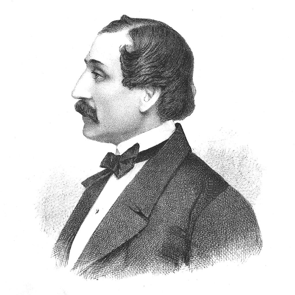 """Gottschalk, o autor da """"Grande Fantasia Triunfal Sobre o Hino Nacional Brasileiro"""", esteve em Santos."""